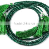 "1 Strand Natural Emerald 3mm-5mm Faceted Rondelle Drilled 16"" Long Jewelry and Necklace Making Beads,Beaded Necklace"