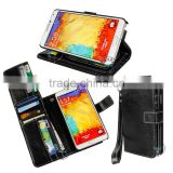 for samsung galaxy note 3 credit card holder case ,folding cover shockproof flip leather case with magnet button