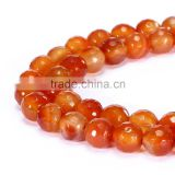 Good Sale Faceted Round Red Agate Canelian Gemstone Loose Beads