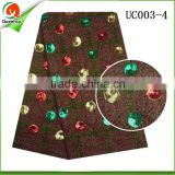 guangzhou wax hollandais cotton fabric textile african hollandis wax prints fabric with sequin