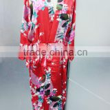NEW Women Silk Satin Pajama Sleepwear Short Night Gown Robe Lady Dress Colorful