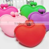 color assorted mini Heart Shaped Silicone Coin Purse Wallet,silicone heart pouch,silicone heart clutch                                                                         Quality Choice