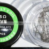 Popular Prebuilt Coils Kanthal A1 Wire 22G 24G 26G 28G with Kanthal resistance wire 0.3ohm 0.5ohm 0.8ohm 1.0ohm