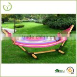 Durable and solid frame wooden free standing hammock stand/wood hammock chair stand