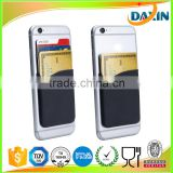 3M sticker colorful OEM promotional silicone adhesive card holder wallet for mobile/cell phone