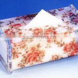 Special printing flower box Customized Acrylic car tissue box cover with Experienced Factory Made