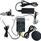 PS108011 Round Tattoo Power Supply Kits Clip Cord Foot Pedal Switch Set