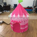 kids folding castle princess tent