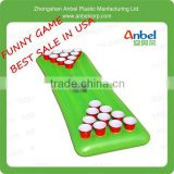 Inflatable Floating Pool Beer Pong Table - Blue - Water Drinking Games