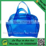 Hot sale transparent pvc shopping bag with zipper,new style transparent pvc shopping bag