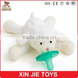 customize plush lamb baby pacifier toy cute plush baby animal pacifier toy                                                                         Quality Choice