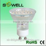 Hot sales 220-240V 3W/4W 2835SMD 20PCS GU10 LED lamps, 3000K Glass 30000H LED lights made in China