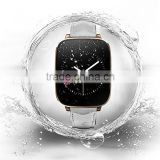 "1.54"" Curved Screen Waterproof IP65 Bluetooth 4.0 Smart Watch With Heart Rate Monitor For iOS Android Golden"