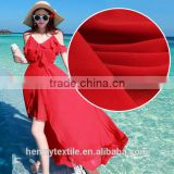 high quality 100% polyester 75D pure georgette woven chiffon fabric for lady crinkle crepe chiffon maxi dresses