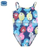 (R4969)Navy nova factory kids swimwear new style cute baby girl swimwear fish printed kids clothes wholesale alibaba