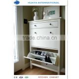 high gloss white color shoe cabinet design