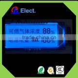 custom negative small segment gas meter lcd module display , monochrome transparent lcd panel