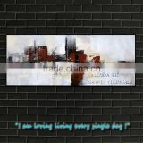 abstract landscape oil painting city scape on canvas