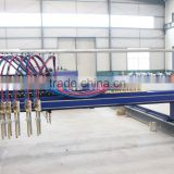 Hot Sales 4000mm x 14000mm CNC Plasma and Flame Cutting Machine with two flame cutting torches
