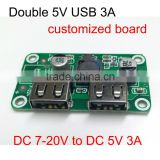 DC DC converter power supply module double USB charger board 5V 2.5A 3A for cellphone fast charging