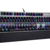 2016 factory provide wired RGB mechanical keyboard,16 million colors, custom edit