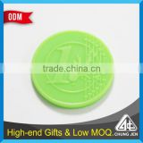 Wholesale bulk custom colors embossed 1 Euro plastic trolley coin