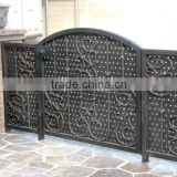 2016 decorative wrought iron gate made with beautiful scroll works and open by swing popular in USA