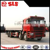China supplier low price Shacman 8*4 tanker truck chassis oil tanker truck for flammable liquid