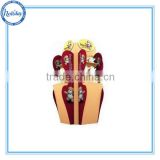 Popular supermarket display stand for doll , supermarket toy display shelf with 4 sieds , Barbie doll display