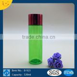 Screen printing personal care industrial use 120ml 4oz oval shoulder round pet cosmetic bottle