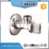 "ART.3001 Factory supplier wholesale forged 1/2"" dn15 chrome plated brass angle valve for toilet /bathroom/kitchen made in china"