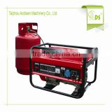 clean energy portable single cylinder iso ce approved lpg gas electric generator silent with wheels