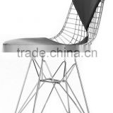 hotel living room chrome steel wire Bikini Eiffel Chair/metal wire frame dining chair