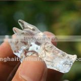 Natural quartz crystal dragon skulls, crystal dragon head carving, crystal dragon head craft