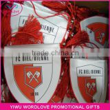 football club usage dye sublimation satin custom triangle flag,promotion sport mini national pennant flag