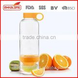 hot selling bpa free fruit infuser water bottle food grade promotional tritan fruit infuser