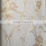 deep embossed home decor vinly wallpaper with beautiful European vines
