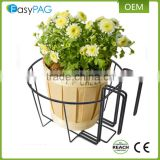Outdoor garden fence hanging ornamental iron metal wire flower pot holder