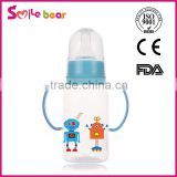 2015 best quality Baby feeding bottle for baby/ baby bottle with temperature silicone nipple