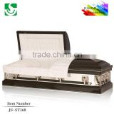 JS-ST168 trade assurance supplier reasonable price metal aluminum casket from china casket manufacturers