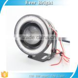 "2.5"" 3"" 3.5"" cob 10W Projector Universal LED Fog Light W/ W COB Halo Angel Eye Rings"