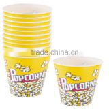Plastic popcorn container, set of 12, 2.50 Liter