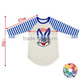 Easter Bunny Embroidery Sequin Kids Tshirts Fashion New Pattern Long Sleeve Easter Kids Raglan Shirts