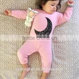 100% cotton long sleeeve baby girl clothes romper boutique girl clothing for wholesale