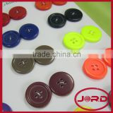 2015 4-holes fancy candy color polyester button,regular plastic resin button for clothing