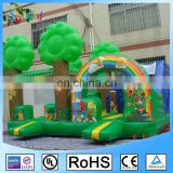 Sunway Customized Green Tree Inflatable Bouncer with Small Slide Bouncy Jumping Castle