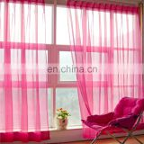 Fancy Pink New Design Window Fabric Organza Curtain