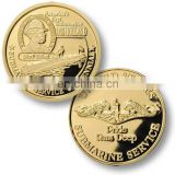 embossed pure gold souvenir coin