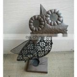 owl candle holders for home decoration/candle holders metal