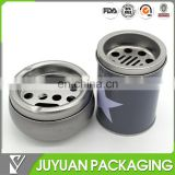 New fancy round metal tin ashtray tin wholesale